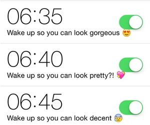 alarm, funny, and school image