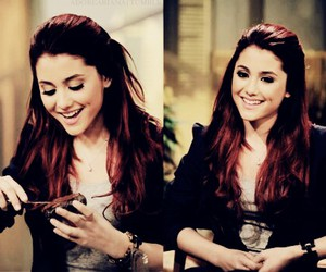 ariana grande, hair, and red hair image