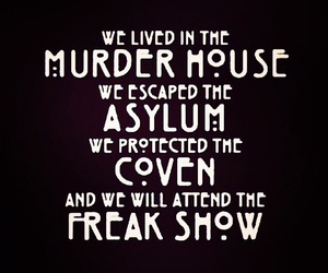 american horror story, asylum, and coven image