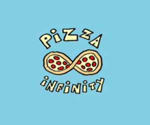 pizza, infinity, and love image