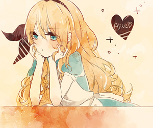 alice, cute, and anime image