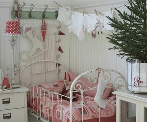 bedroom, decor, and country interiors image