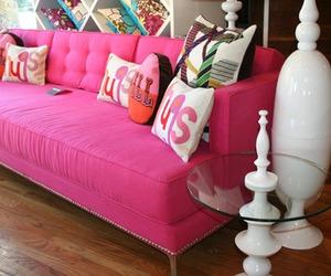 cushions, pink, and sillon image