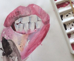 lips, art, and paint image