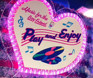 enjoy, heart, and neon image