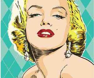 Marilyn Monroe and pop art image