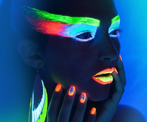neon, makeup, and nails image
