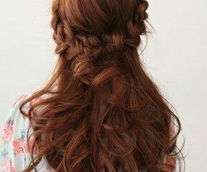 lovely, cute style, and french braid image