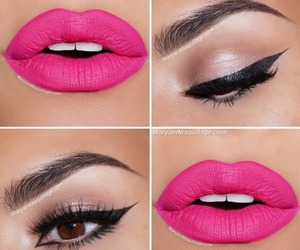 pink, makeup, and lips image