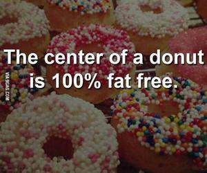 donuts, funny, and food image