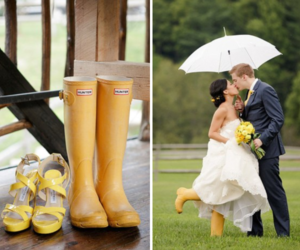 rain and wedding image