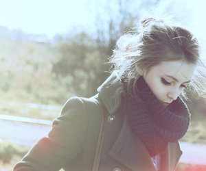 girl, scarf, and cold image