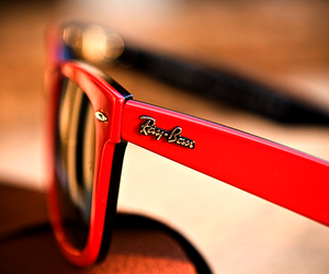red, rayban, and glasses image