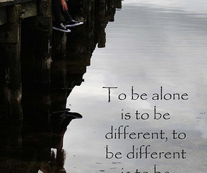 alone, depressed, and different image