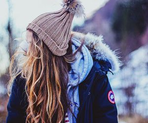 girl, hair, and cold image