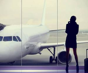 airplane, luxury, and luxury woman image
