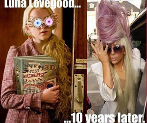 harry potter, Lady gaga, and luna lovegood image