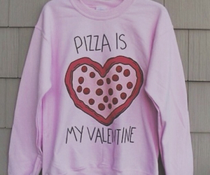 pizza, pink, and valentine image