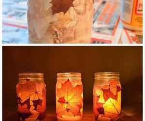 diy, autumn, and leaves image