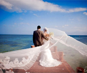 wedding, ocean, and man image