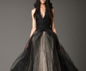 black, wedding, and black dress image