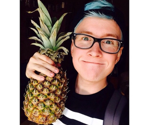 tyler oakley, pineapple, and youtuber image