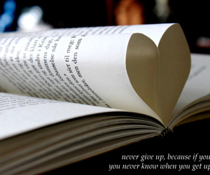 book, heart, and picture image