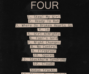 four, one direction, and song image