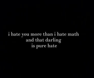 hate, math, and quote image