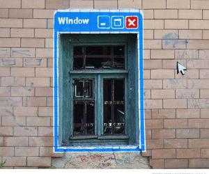 window, funny, and art image