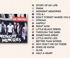 one direction, midnight memories, and album image