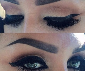 makeup, eyes, and perfect image