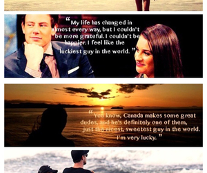 lea michele, cory monteith, and cory and lea image