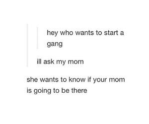 funny, gang, and mom image