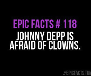 clowns, johnny depp, and epic facts image