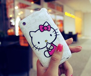 hello kitty and iphone image