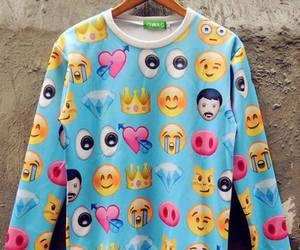 emoji, sweater, and emojis image