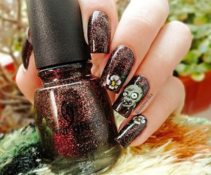 glitters, nail lacquer, and nails image
