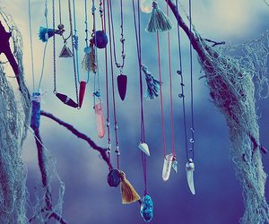 crystal, necklace, and blue image