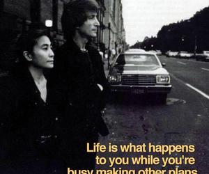 john lennon, life, and Lyrics image