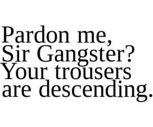 funny, gangster, and quote image