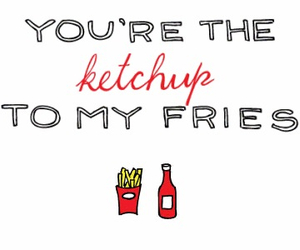 ketchup, fries, and love image