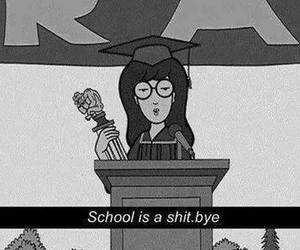 school, shit, and Daria image