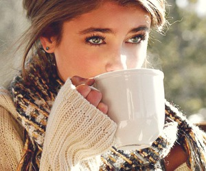 eyes, beauty, and coffee image