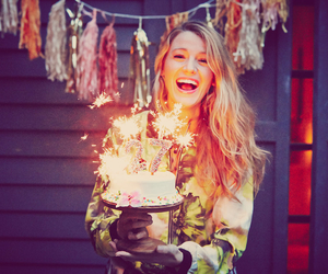 blake lively and birthday image