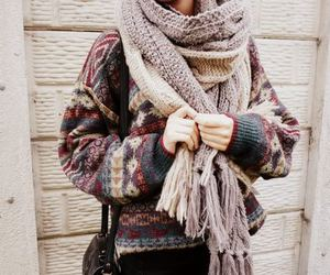 girl, pretty, and scarf image