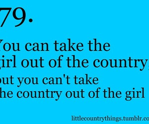 country, girl, and qoute image