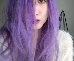 hair, purple, and violet image