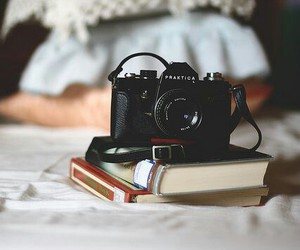 camera, book, and vintage image