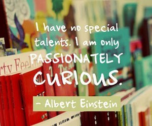 curious, einstein, and life image